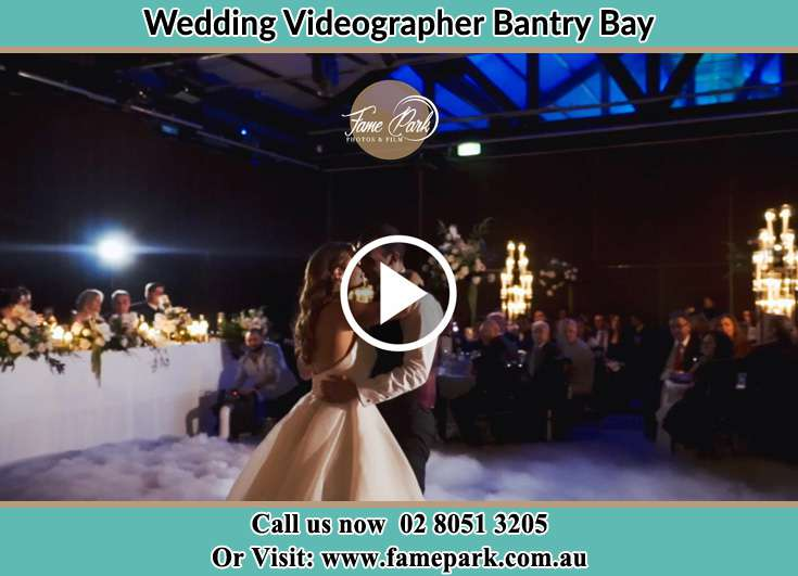 Bride and Groom looking at each other at the dance floor Bantry Bay NSW 2087