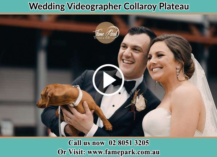 Bride and Groom with their dog Collaroy Plateau NSW 2097