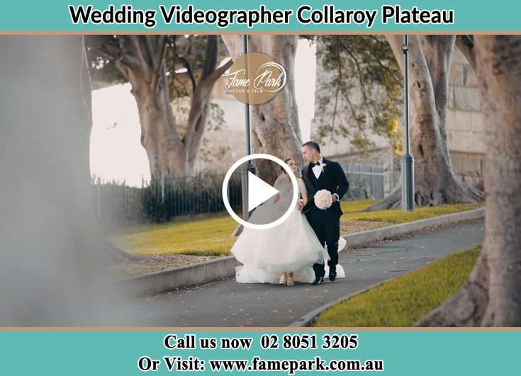 Bride and Groom looking at each other while walking in the park Collaroy Plateau NSW 2097