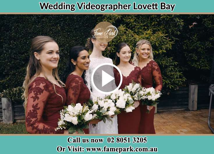 Bride and her secondary sponsors Lovett Bay NSW 2105