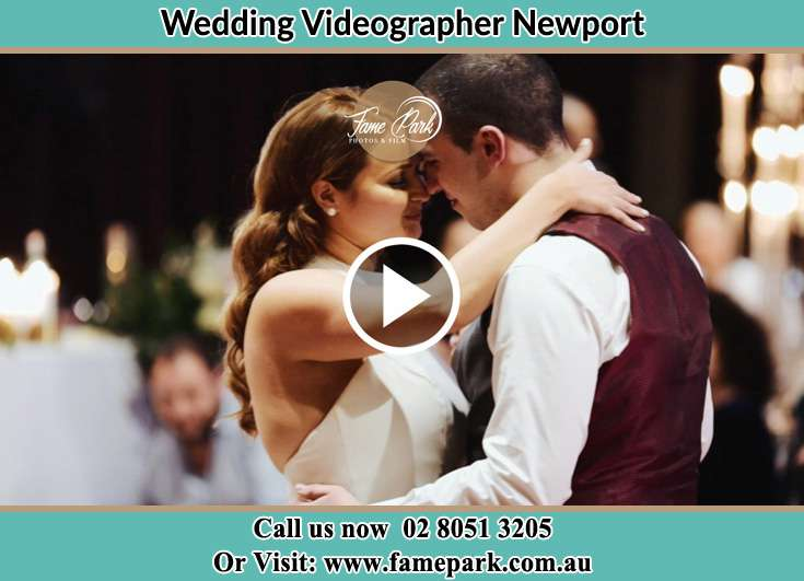 Bride and Groom dance at the dance floor Newport NSW 2106